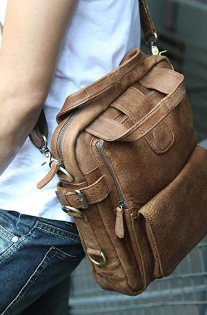 Men Casual Multifunction Business Crossbody Bag Shoulder Bag