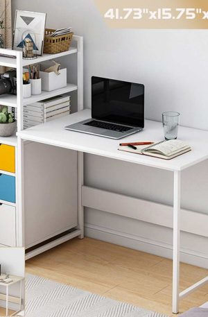 Computer Laptop Desk Modern Style with Shelves Drawers Bookshelf for Home Office Studying