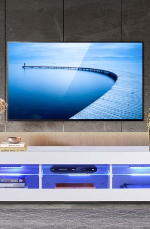 57'' LED TV Stands Cabinet Living Room -Bedroom Furniture tv bracket