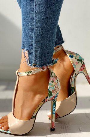 Women T-Strap High Heels Sandals