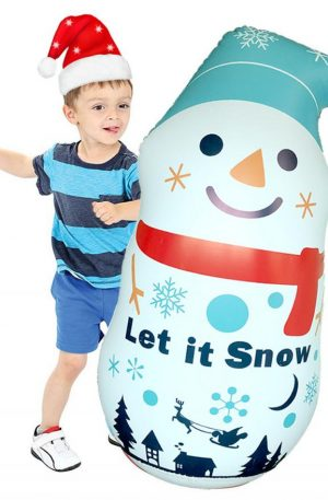 Christmas Inflatable Snowman Tumbler Pvc Santa Decoration Props Sandbag Toy indoor/Outdoor