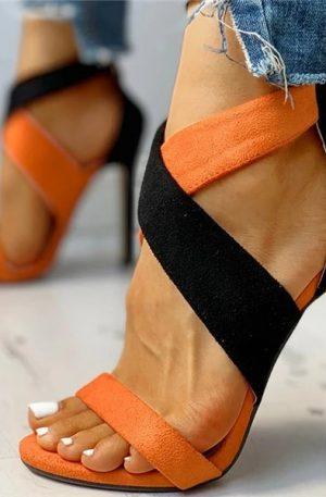 Beautiful Women Lace Up Wedding Sandals