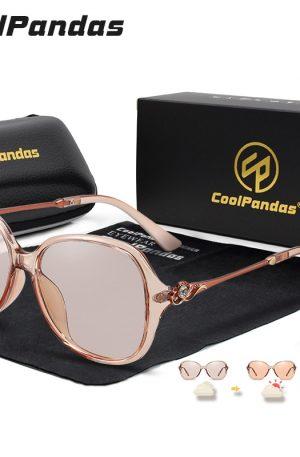 Women Chameleon Photochromic Sun Glasses Driving Anti Glare