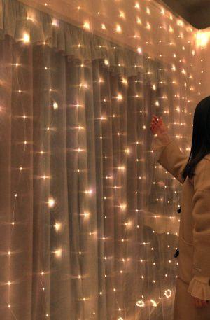 Christmas LED Curtain String Light Flash Fairy
