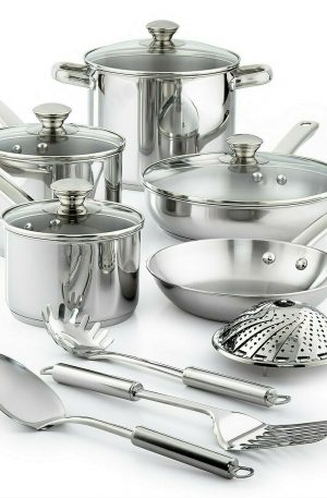 BRAND NEW -Stainless Steel 13-Pc. Cookware Set