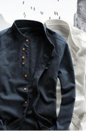 Men's Long Sleeve Cotton Shirt