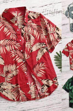 Men's Casual Button Hawaiian Shirt